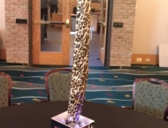 Rock n Roll Mitzvah centerpieces