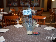Mitzvah ocean beach center pieces under water