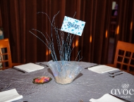 Mitzvah ocean beach centerpieces under water