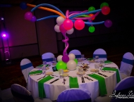 Bat Mitzvah neon color balloon