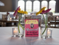 centerpiece Mitzvah flowers quaint dainty
