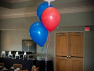 Mitzvah centerpiece sport theme balloon