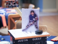 Mitzvah sports ice hockey centerpiece
