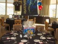 Rock n Roll Mitzvah centerpiece Mitzvah