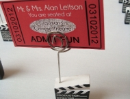Old Hollywood theme seating cards
