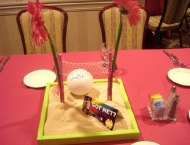 sand pit volleyball center piece