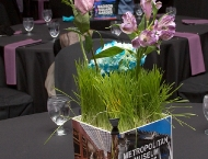 Bat Mitzvah centerpiece New York grass flower customized height