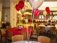 Centerpiece Mitzvah sports tailgate Ohio State balloon football