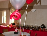 Centerpiece Mitzvah balloon sports tailgate Ohio State football football