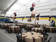 Mitzvah sports Force table centerpieces