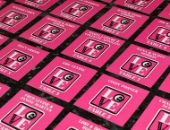 Mitzvah seating cards pink