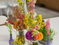Wedding flowers centerpiece Camp Wise
