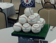 Centerpiece Mitzvah Baseball Sports