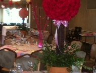 Pink Mitzvah center piece