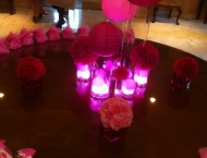 Pink Mitzvah Seating Cards