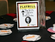Hollywood table names playbill Broadway show
