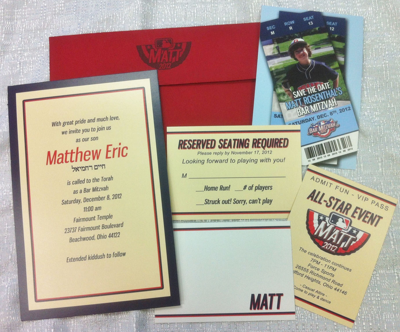 Invitations and Collateral « Momentum Marketing and Event Planning