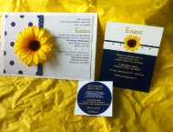 Invitation flower custom Mitzvah