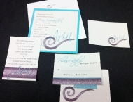 Bat Mitzvah Tiffany invitation swirl diamonds custom hand crafted