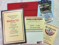 Invitation baseball save the date Mitzvah