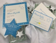 Bat Mitzvah star starry blue yellow