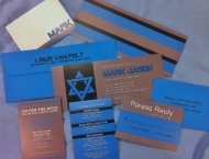 Invitation blue Mitzvah