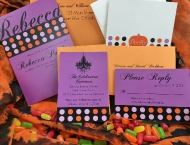 Mitzvah Halloween purple orange