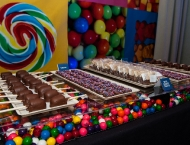 Cleveland Mitzvah candy bar Dylan gum balls display