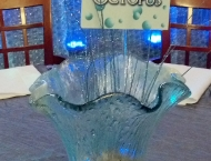 Cleveland Mitzvah ocean beach center pieces under water