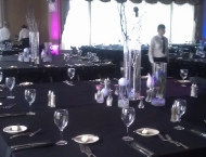 Mitzvah center pieces big tables