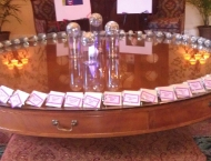 Mitzvah seating cards disco balls night club