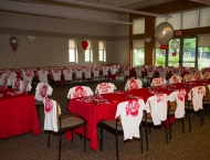 Mitzvah kid tables sports tailgate Ohio State football