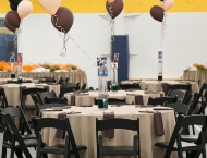 Mitzvah sports Force table center pieces