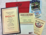 Mitzvah, Bar, baseball, invitation