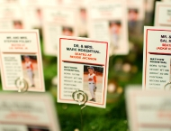 Mitzvah, seating cards, baseball